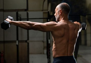 a man doing shoulder exercises