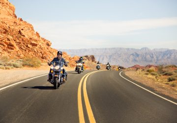 a group going for a motorcycle ride