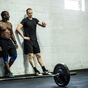 men working out