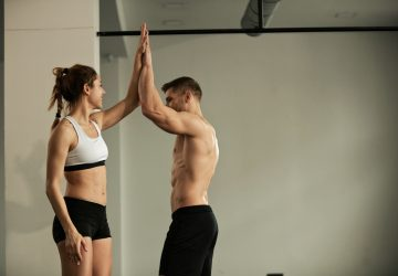 a couple working out